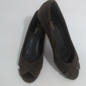 Cole Haan Dark Chocolate Suede Sandals